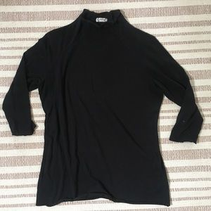 Free People Thin 3/4 Sleeve Layering Mockneck S